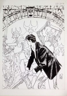 "Stano, Angelo - original plate for the cover of ""Dylan Dog"" no. 217 - (2004)"