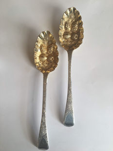 Two silver fruit spoons, Morris & Michael Emanuel, London, 1825