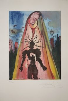 Salvador Dali - Hamlet : The ghost tells the story of the murder