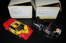 BBR-Kits professionally built - Scale 1/43 - 2 x Ferrari F355 Berlinetta - Daytona 1999 and 2000