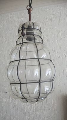 Vintage Brocante hanging lamp