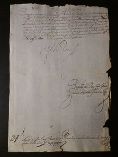 Manuscripts; License from King Philip IV of Spain to be able to dress in colour attire - 1632