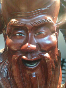 Wooden statue, Shoulao - China - second half 20th century