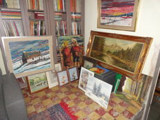 Lot of 15 paintings