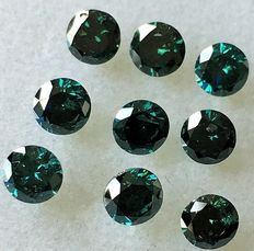 "Lot of 9 Natural Diamonds ct. 1,68 "" No reserve price."""