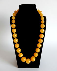 Necklace of Baltic amber 70g