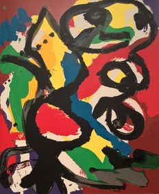 Karel Appel - Bird in summerlandscape