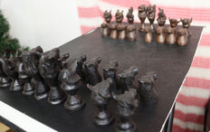 32 wooden chess pieces-Namibia