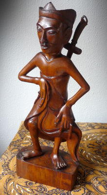 Bali sculpture with kris carving - Art Deco style - Bali - Indonesia