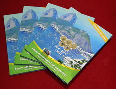 Brazil. 4 albums commemorating the Olympic Games Rio do Janeiro 2016