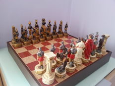 Chess with large pieces - Rome against Egypt 1995, as new.