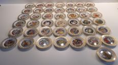 """Franklin Porcelain """"The best loved fairy tales"""" by Carol Lawson-43 plates"""