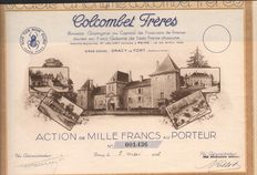 France - Colcombet Frères 1932 - Dracy 1932 - Action de 1000 francs  - DEKO Wine Share