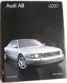 Book : 1994 Jurgen Lewandowski AUDI A8 with 5 signatures plus diploma certificate with signatures