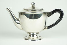 Douwe Egberts - Hooykaas - empire style tea pot - silver plated