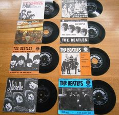The Beatles: Lot Of Eight (8) Very Collectable and Wanted DutchSingles in Original Photocovers from the early 60s (One eighties)  .