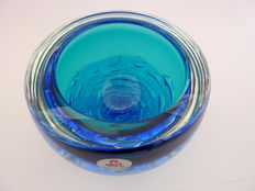 Princ glass art - crystal dish/bowl