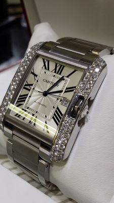 Cartier Tank Anglaise XL Ref. 3507 - Unisex