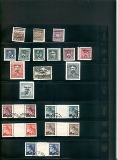 German Reich 1939-1945 - Collection on Sock Sheets