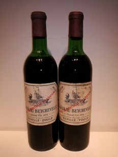1971 Chateau Beychevelle, Saint-Julien Grand Cru Classé - 2 bottles