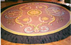 """""""Savonnerie"""" carpet - Spain, early 20th century - Real Fabrica de Tapices.  Round-shaped - 435 cm diameter"""