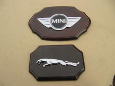 Jaguar and Mini emblems