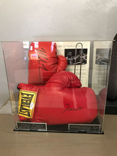 Boxing gloves, autographed by Muhammad Ali (R.I.P) & Mike Tyson