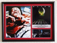 Alien - John Hurt (RIP) / Officer Kane originally hand signed photo - Deluxe Framed + Certificate of Authenticity