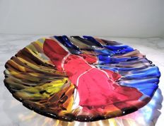 Theo Verhoeff - Signed polychrome bowl (' fusing ', unica)