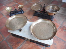 3 Antique scales - England France and Italy - ca. 1900