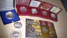 Austria and Germany - Silver Euros (8 coins)