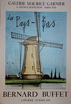 Bernard Buffet (after) - Pays Bas : Le Moulin à Vent