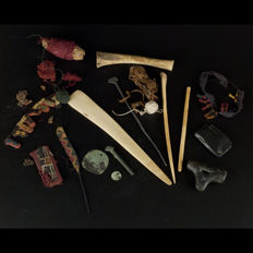 Pre-Columbian Chancay weaver Tools etc.