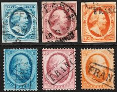 The Netherlands 1852/1864 – King Willem III first and second issue – NVPH 1/6 - 6