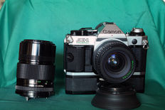 Canon Ae1 program and Makinon 28mm f/2.8 + Fd Canon 135mm f/ 2.8 and Powerwinder A