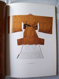 Kimono designs with samples of the original fabric - 2 volumes - c. 1960