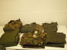 Lot with 8 x Dutch military clothes