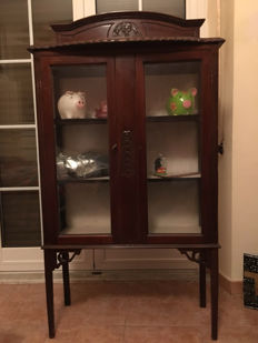 Glass display cabinet - early 20th C