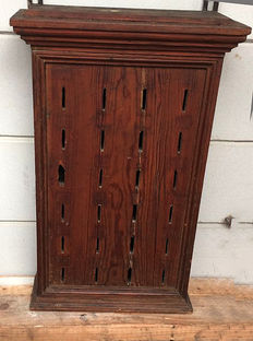 "Pine ""savings"" cafe wall cabinet - early 20th century - Germany"