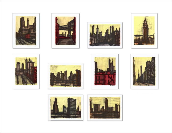 Bernard Buffet (d'après) -  New York (10 lithographies)