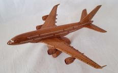 model plane made from precious wood: AIRBUS A380