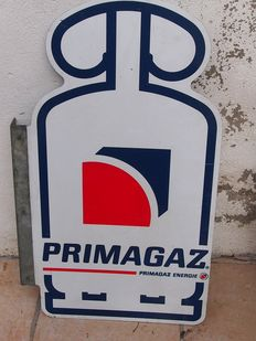 Primagaz advertising plaque, double-sided, in good condition