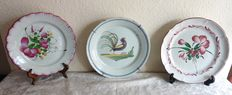 3 earthenware plates from the East of France