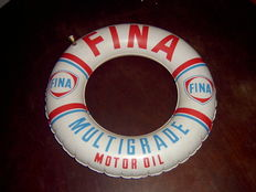 FINA motor oil vintage advertising, beach decor 60's