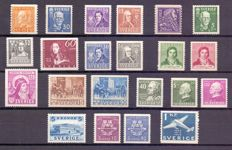 Sweden 1925/1943 - Composition of stamps and series - between Yv 197 and 304