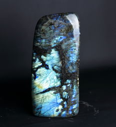 Large, heavy blue piece of polished Labradorite - 28.5 x 13.2 x 8.2cm - 7.25 kg