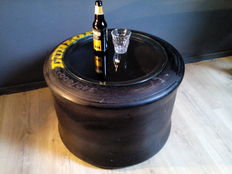Dunlop Racing Formula 1 tyre / 340 / 600 - 14 - storage box/coffee table/side table - 40 x 60 cm