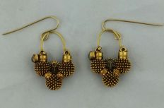Antique earrings Kalbelli - Rajasthan and Himachal Pradesh - 22 kt gold
