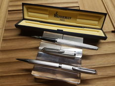 "Lot of 2 ""Corduroy"" Waterman Fountain Pens-Ballpoint pens"