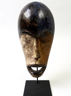 African tribal spirit mask of the Galoa tribe